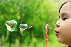 Little Girl with The Bubbles (LikClick Photography) Tags: family summer kids children familyportraits kid colorful moments child bubbles   2011        likclick