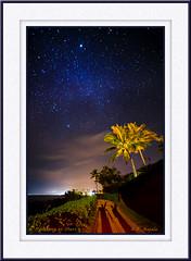 Pointing at Stars (Maclobster) Tags: palms stars hawaii exposure time kauai poipu keithgrajala