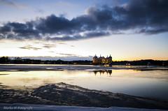 Schloss Moritzburg (marko-DD) Tags: winter schnee schloss snow eis see cold castle landscape landschaft outdoor wolken cloud spiegelung sonnenuntergang sunset reflection