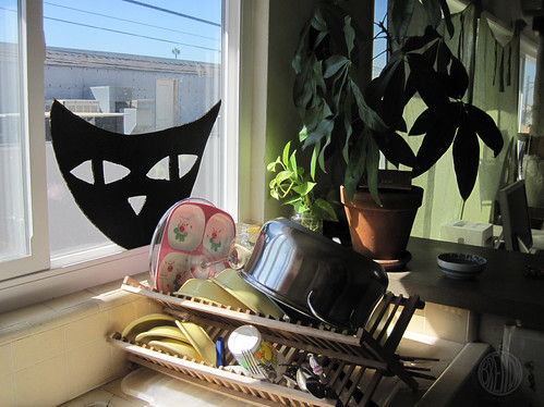 spooky eyes are watching my dish rack