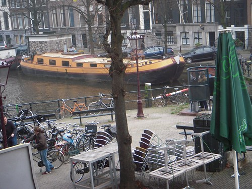 Imagine living on a canal in Amsterdam...
