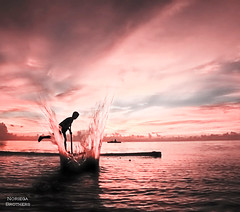 The Endless Summers (Tomasito.!) Tags: ocean boy sea portrait people seascape guy art love tourism beach water beautiful silhouette painting landscape happy person boat photo fisherman nikon asia artistic dusk philippines happiness tourist filipino splash summers endless tomasito e5700 highspeedphoto mygearandmepremium mygearandmebronze mygearandmesilver bestphilippinesites