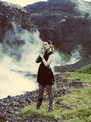 (ljosberinn) Tags: mountain mountains nature fashion hair iceland rocks feathers makeup steam horn viking halla nesjavellir