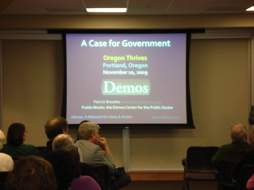 A Case for Government Lecture, 11/10/09