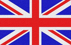 United Kingdom's Flag Looking Like Canvas