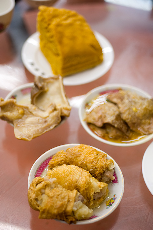 Old-school dim sum dishes at Lin Heung Tea House, a dim sum restaurant in Hong Kong