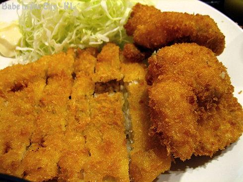Mix Katsu of Pork Cutlet and Pork Belly Cutlet
