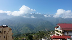 The view from our balcony in Sapa