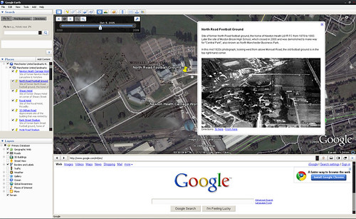 Manchester United Landmarks for Google Earth - screenshot