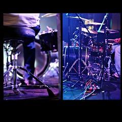 Drummer (Seven | Dreaming | Souls) Tags: music colour film rock set night analog 35mm live september rocknroll rockshow 2009 kodakgold200