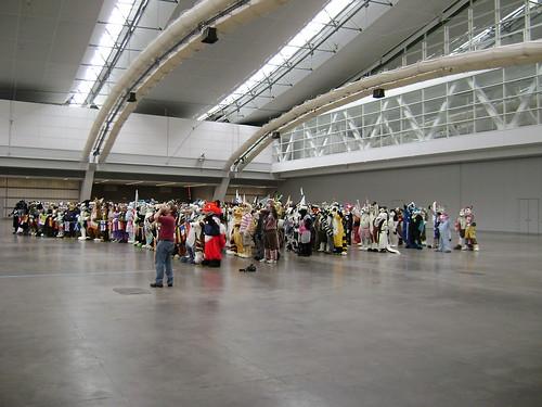 640 fursuiters in Hall C