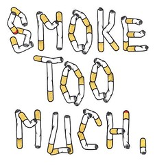 smoke too much. (Greg Ewing) Tags: type typo ewing