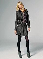Black and White Tweed Jacket (Next Official) Tags: winter white black fashion grey boots top gray skirt next blouse lilac jacket suede tweed microsuede horseprint