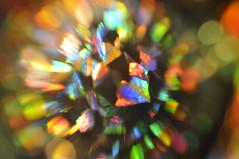 Its getting closer (petelovespurple) Tags: abstract macro tag3 taggedout nikon tag2 tag1 11 tamron 90mm crystalball d90 tlights xmasglitterbags