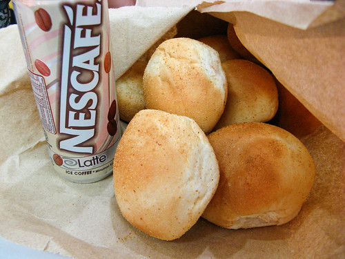 Pandesal and Nescafe Ice Coffee Latte by dbgg1979, on Flickr