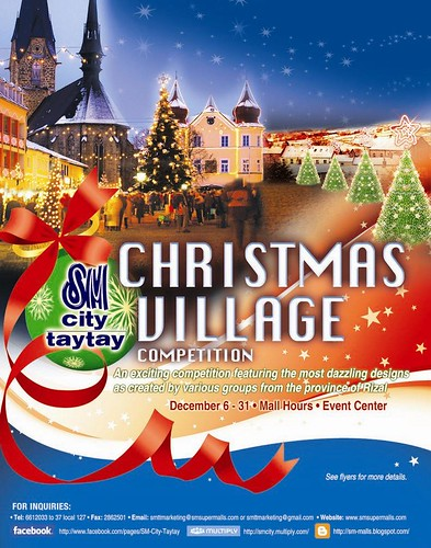 SM City Taytay Christmas Village event poster