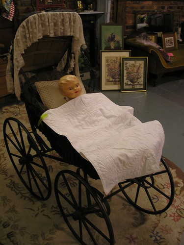 4:34 PM: Creepy doll in stroller