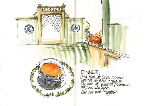 Paris06_09 Last dinner with Eza