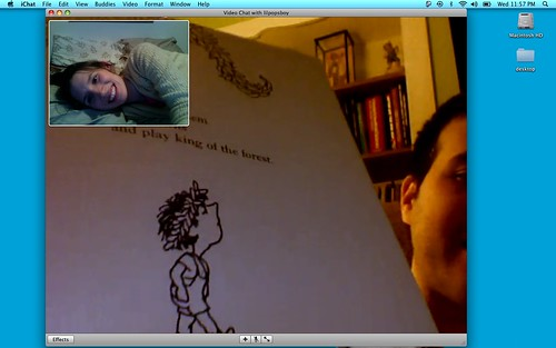 Matty read me a bedtime story on video chat