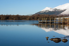 Derwentwater in Winter (judepics) Tags: uk winter lake snow reflections pier stones lakedistrict cumbria derwentwater absolutelystunningscapes thechallengefactory welcomeuk