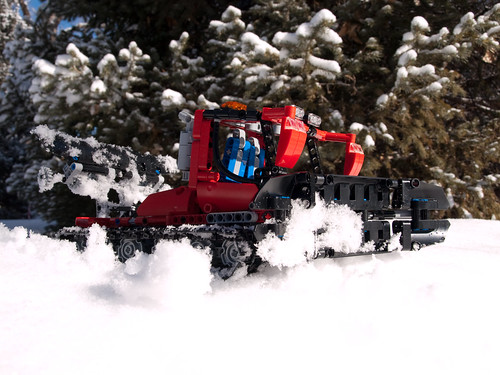 Lego Snowcat at Work