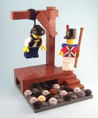 """I'm Innocent!"" (babyjawa) Tags: lego pirate hanging noose gallows execution moc forbiddencove"