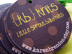 {kb} knits hang tags