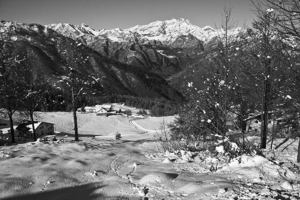 Alpe Mera, B&W Landscape #1