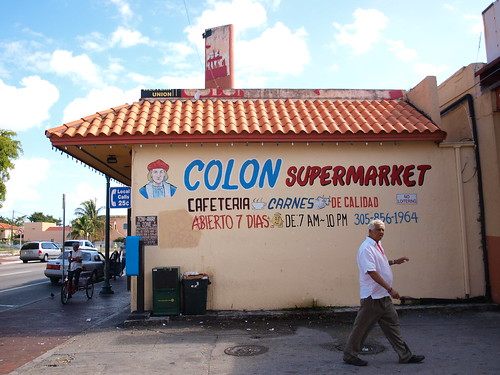 The Colon Market in the historic Cuban district of Miami.  Photo by copelaes.