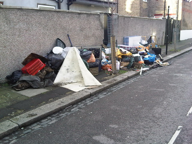 Fly-tipping Montague Road N15 by Alan Stanton