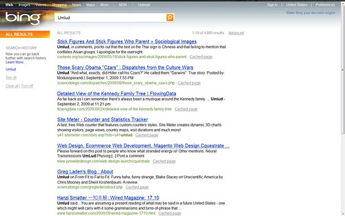 Bing search 1