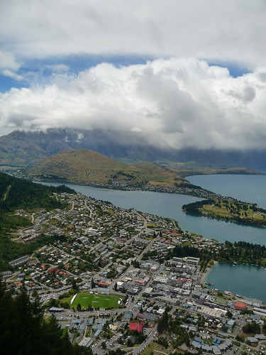 Looking out over Queenstown