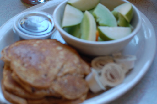 Sweet Potato Pancakes and Fruit from the Arcade, Memphis, Tenn.
