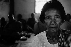 (R_x - renee barron) Tags: old portrait woman white black cambodia sitting interior monks older rx reneebarron
