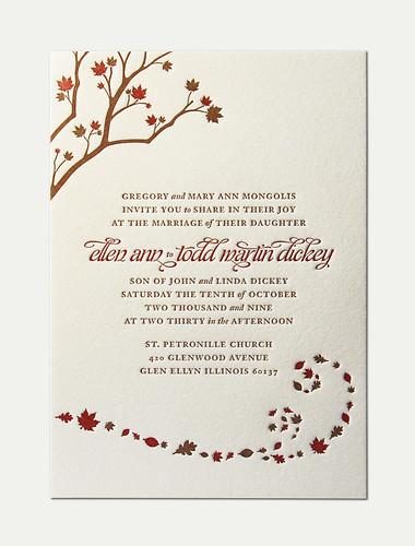E&T Wedding Invitation
