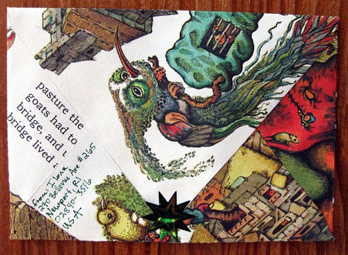 completed troll envelope, back