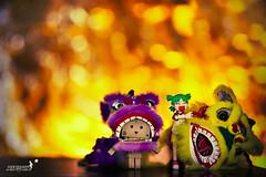 Happy Lunar New Year (achew *Bokehmon*) Tags: wallpaper orange anime cute smile toy dance amazon warm comic bokeh box traditional small chinese lion cny figurine lunarnewyear japanes yotsuba danbo danboard