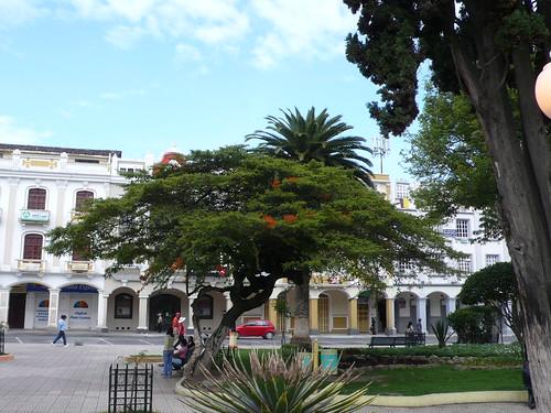 Centro de la castellana ciudad de Loja, Ecuador