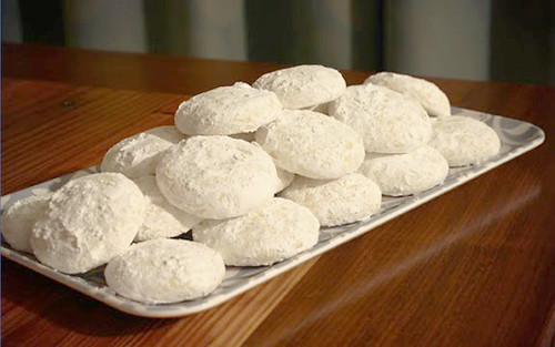 Lemon powder cookies