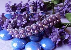 """Violet"" Handwoven Bracelet (fivefootfury) Tags: purple violet plum jewelry bracelet beaded beadwork deeppurple darkpurple beadweaving fivefootfury amethystpurple frostedpurple"