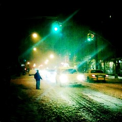 """Silent Night... Snowy Night"" (Sion Fullana) Tags: winter people urban snow newyork painterly blur cold silhouette night square lights nieve creative streetphotography westvillage taxis squareformat nightshots blizzard allrightsreserved newyorkers newyorklife snowynight iphone heavysnow 500x500 likeapainting urbanshots creativeshots urbannewyork waitingforacab snowinnewyork iphonephotography iphoneshots johnslens iphoneography iphoneographer sionfullana editedanduploadedoniphone hipstamatic hipstamaticapp throughthelensofaniphone"