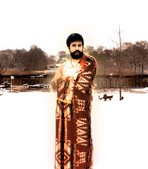 Imbolc: Full (Henry M. Diaz) Tags: winter red selfportrait love water river woods christ cross heart crystal spirit dolphin jesus fullmoon human celtic peyote taino nativeamericanindian emotions spark pagan regalia sping apostle pendelton jeshua redblanket anointed arawak ibolc nativeamericanindianchurch