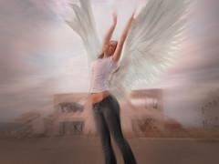 [フリー画像] 人物, 女性, グラフィックス, フォトアート, 天使, 201004281900