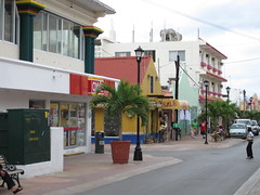 street, Cozumel, while 'racing'