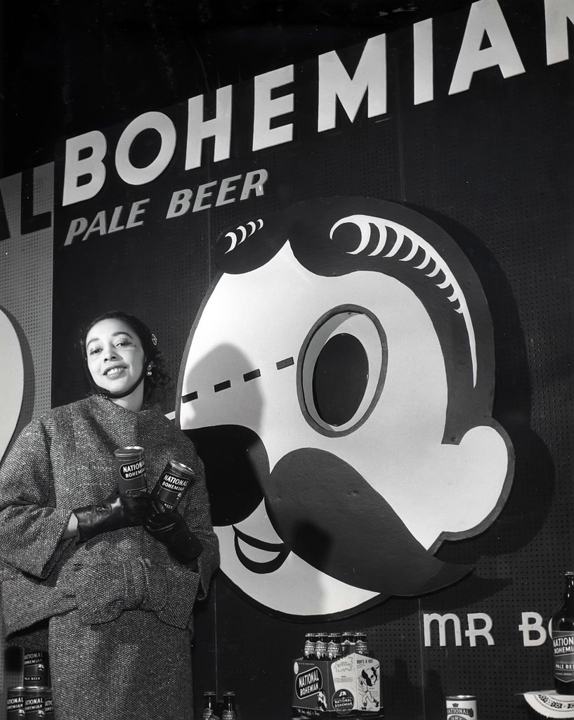 Dorothea Towles (First Successful African American Fashion Model In Paris) Modeling for National Bohemian Beer...1955 African American Cooking Show...Washington, DC