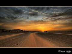 All Roads Lead to the Sun ! (Bashar Shglila) Tags: road sunset sahara gallery desert best libya montains acacus   akakus    libi libiya platinumphoto theunforgettablepictures  vosplusbellesphotos  updatecollection libja