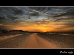 All Roads Lead to the Sun ! (Bashar Shglila) Tags: road sunset sahara gallery desert best libya montains acacus صحراء جبال akakus ليبيا طريق العوينات libië libiya platinumphoto theunforgettablepictures غات vosplusbellesphotos اكاكوس updatecollection libja اضاد تهالة هقار