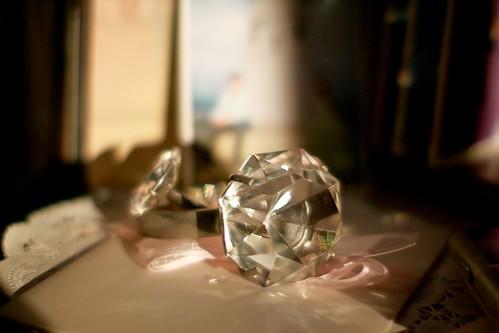 求婚的大鑽戒