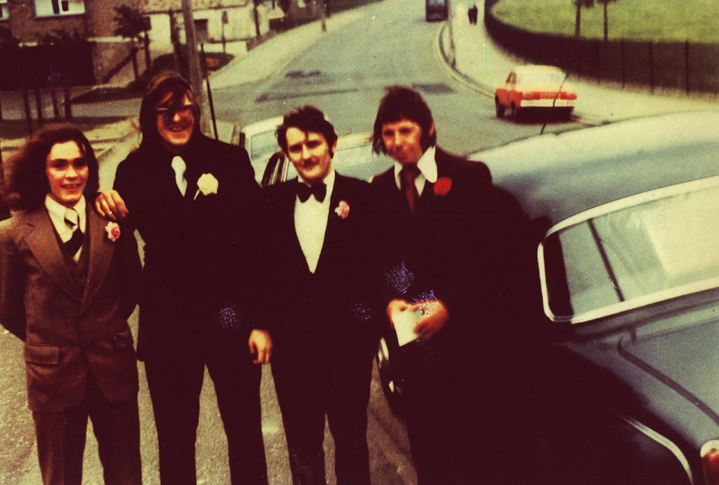 John's Wedding, Cranhill Parish Church, 1972.
