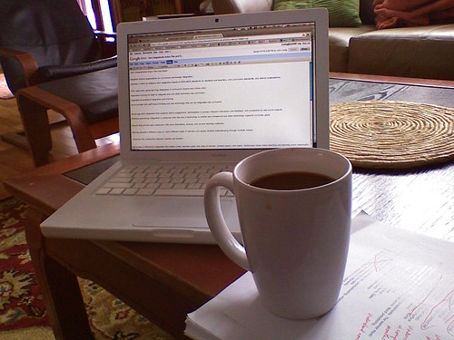 coffee and google docs by gitsul., on Flickr